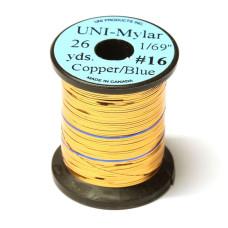 Пластиковий плоский тінсел UNI-Mylar, # 16 мідний / синій (COPPER / BLUE 1/69 )