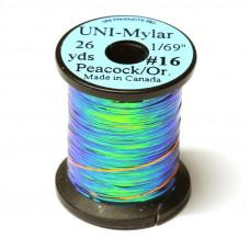 Пластиковий плоский тінсел UNI- Mylar, # 16 павича / помаранчевий (PEACOCK / ORANGE 1/69)