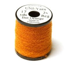 Вовняна нитка UNI-Yarn, темно-помаранчева ( BURNT ORANGE)