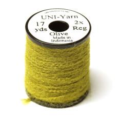 Вовняна нитка UNI-Yarn, оливкова (OLIVE)