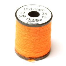 Вовняна нитка UNI-Yarn, флуо-помаранчева (FL ORANGE)
