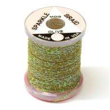 """Плетене волокно UTC Sparkle Braid, """"комарине"""" оливкова (MIDGE OLIVE)"""