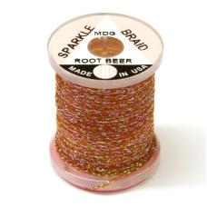 """Плетене волокно UTC Sparkle Braid, """"комарине"""" пивне коричневе (MIDGE ROOT BEER)"""