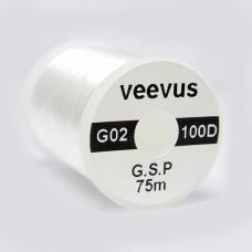 Монтажна нитка 100 DENIER GSP VEEVUS, біла (WHITE)