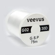 Монтажна нитка 30 DENIER GSP VEEVUS, біла (WHITE)