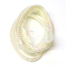 Плетена світлонакопичувальна трубка Veniard Colour Glow Pearl Mylar Piping, середня біла (Medium White)