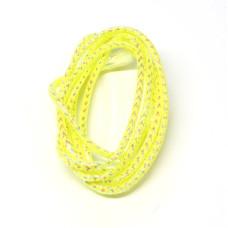 Плетена світлонакопичувальна трубка Veniard Colour Glow Pearl Mylar Piping, мала жовта (Small Yellow)