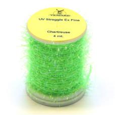 Синель з УФ-блиском Veniard UV Straggle Chenille Ex Fine, тонка шартрез (Chartreuse)