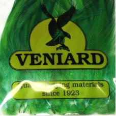 Великі пір'я зі скальпа півня Veniard Large Neck Hackle, зелені (Green)