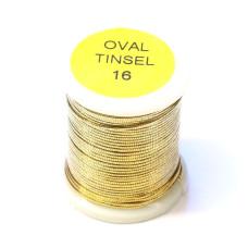 Овальний тінсел Veniard Oval Tinsel, золотий # 16 (16 GOLD)
