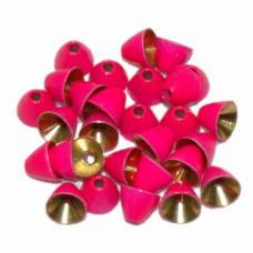 Латунні конусні головки Wapsi Painted Cone Heads, 4.8мм яскраво-рожеві