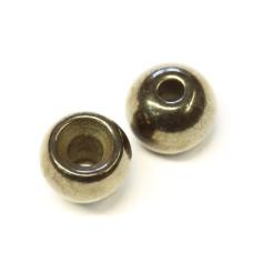 """Металеві круглі головки Wapsi Cyclop Beads 4.76мм (3/16 """"), чорний нікель (BLACK NICKEL)"""