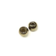 """Металеві круглі головки Wapsi Cyclop Beads 1.98мм (5/64 """"), чорний нікель (BLACK NICKEL)"""