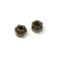 Вольфрамові головки з гранями Wapsi TUNGSTEN FACETED BEADS 3.2мм, чорні (BLACK)