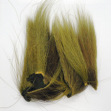BUCKTAIL PIECES, LIGHT OLIVE