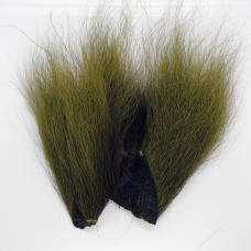 BUCKTAIL PIECES, OLIVE GREEN