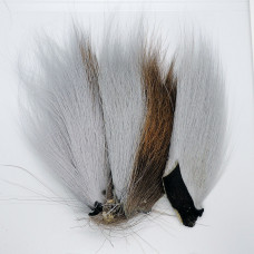 BUCKTAIL PIECES, PEARL GRAY