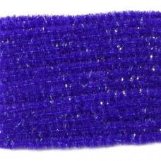 Синель з блискітками Wapsi Wooly Bugger Chenille, мала пурпурна (SMALL, PURPLE)