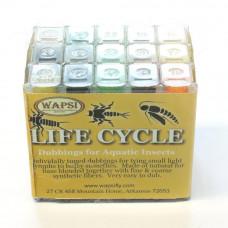 Набір даббінга Wapsi Life Cycle Dubbing Cube Dispenser, 30 кольорів