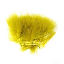 Марабу Wapsi Strung Marabou (Blood Quill), жовто-оливковий (YELLOW OLIVE)