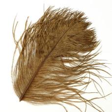 Відрізок пера страуса Wapsi Ostrich Herl, коричневий (BROWN)