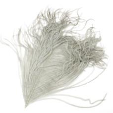 Відрізок пера страуса Wapsi Ostrich Herl, сірий (DUN)