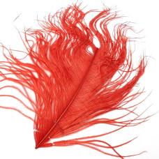 Відрізок пера страуса Wapsi Ostrich Herl, червоний (RED)