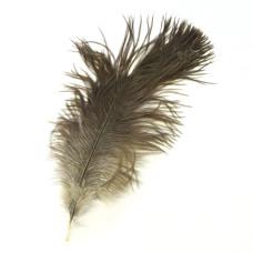 Міні-перо страуса Wapsi Ostrich Mini Plume, натуральне сіре (NATURAL GRAY)